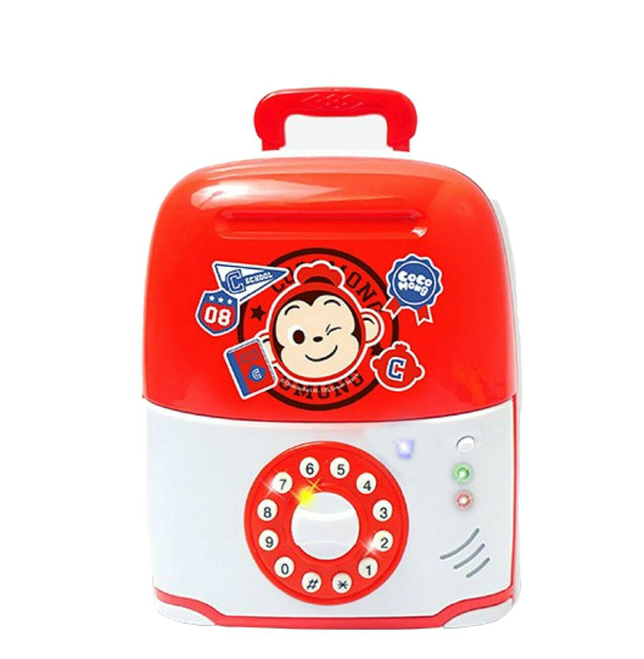 Jeus Toys Coco Mong Melody Light Suitcase Money Banks Savings Box Piggy Bank Toy