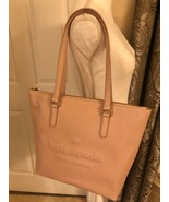 Kate Spade Larchmont Ave Logo Penny Warm Vellum Leather Tote Bag WKRU561... - $142.33
