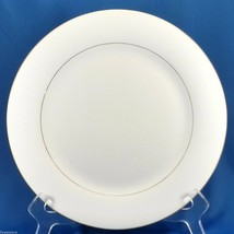 "Sakura Classic Gold Dinner Plate 10.5"" White Porcelain with Gold Trim 1997 - $10.89"