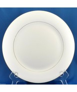 "Sakura Classic Gold Dinner Plate 10.5"" White Porcelain with Gold Trim 1997 - $8.71"