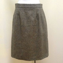 Kilkenny S Skirt Green Beige Tweed Pure Wool Pencil Career Made in Ireland - $31.34