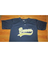Milwaukee Brewers adult large L screen print poly jersey blue top shirt ... - $9.89