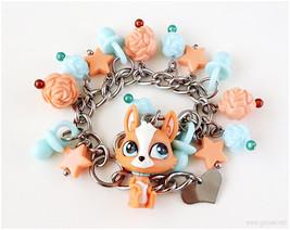LPS Figure Bracelet, Littlest Pet Shop, Girls Jewelry, Kawaii Jewelry, L... - $34.00