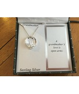 """STERLING SILVER Heart """"Grandmother"""" Necklace Cubic Zirconia Silver - $21.03"""