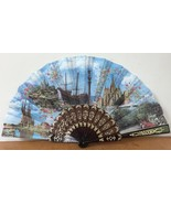 Vtg Spanish Barcelona Spain 1992 Travel Souvenir Gaudi Landmarks Fold Out Fan - $59.99