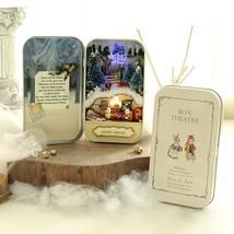 Christmas Dream 3D Doll House Dollhouse Miniature Box Wooden DIY Handmad... - $15.66