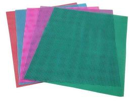 7-Mesh Plastic Canvas Sheets, 10 x 13 Inches, Various Colors