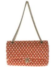 Auth CHANEL Shoulder Bag Red Matelasse CHANEL Classic Flap Tweed Medium ... - $2,165.13