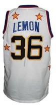 Meadowlark Lemon #36 Harlem Globetrotters Basketball Jersey Sewn White Any Size image 2