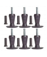 SET OF 6, PREMIUM Steel Core Two-Part Stem Glides Bed Frame Feet Legs & ... - $21.73