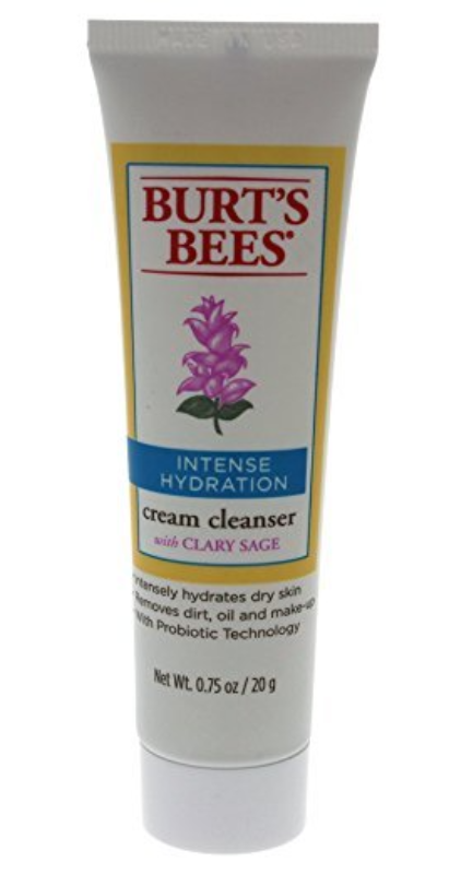 Burt's Bees Intense Hydration Cream Cleanser With Clary Sage 0.75 oz 20 g - $8.99