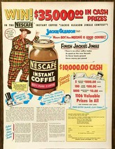 1953 Nescafe Instant Coffee PRINT AD Jackie Gleason Jingle Contest - $10.70