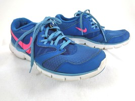 Nike Women Flex Experience RN3 Blue/Pink Athletic Running Sneakers Sz 9 - $18.66