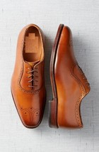 Handmade Mens Tan brown Leather formal Shoes, Men Oxford leather dress shoes - $164.99