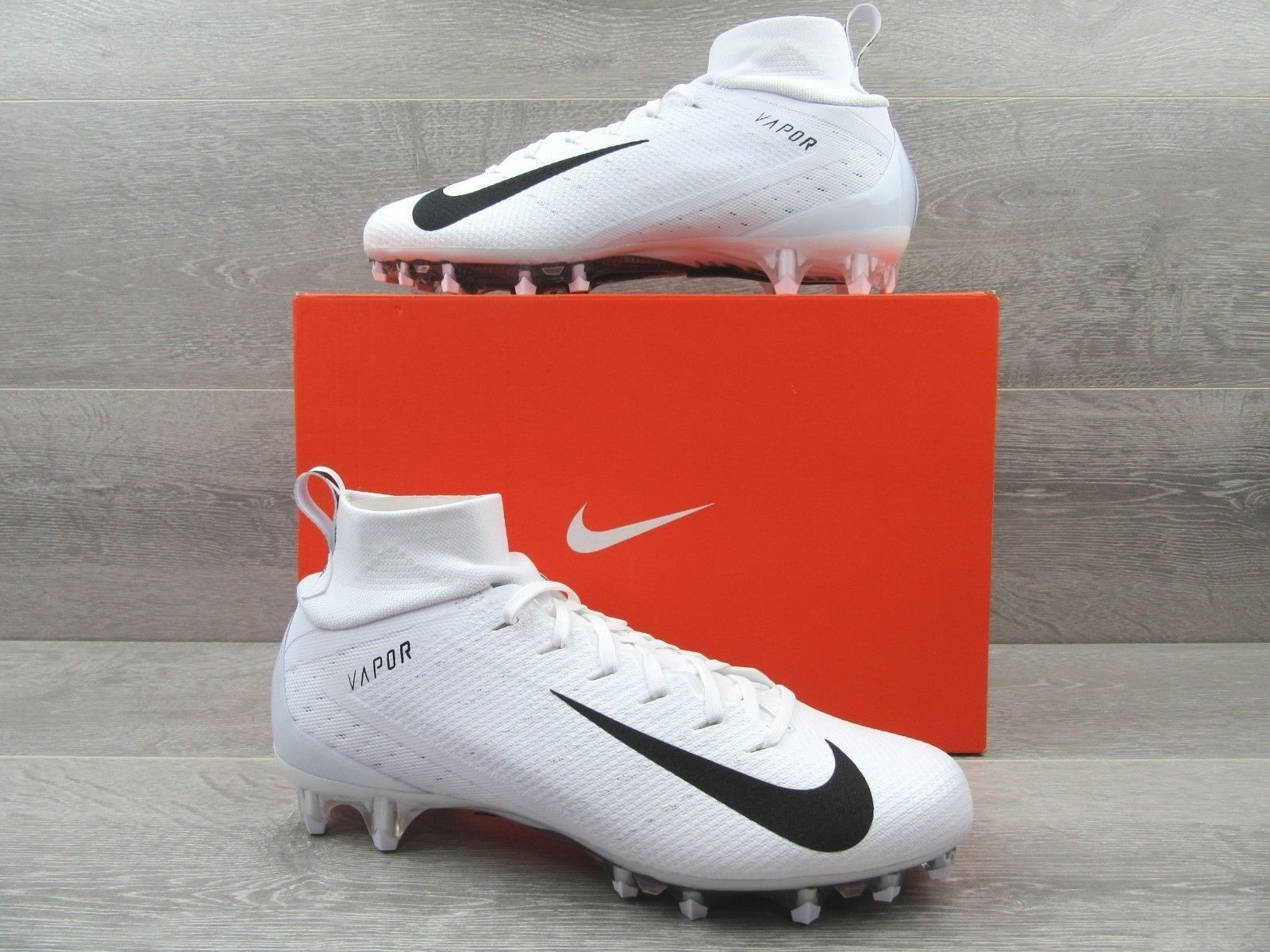 0ba6f77a67c7 57. 57. Previous. Nike Vapor Untouchable Pro 3 Football Cleats Size 11  White Black 917165 105 New
