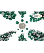 Acrylic Rhinestones Flat Back Green Emerald Mixed 6 Sizes 540 Pcs For DI... - $14.20