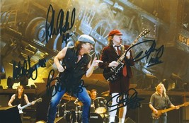 AC/DC Full Band Signed Photo 8X10 Rp Autographed Malcolm Young All Members * - $19.99
