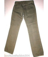 New 24 Womens 7 for all mankind Jeans Army Green Pants 27 X 32 Skinny Si... - $99.00