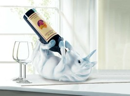Wine Bottle Holder White Unicorn with Blue Accents  - €22,83 EUR