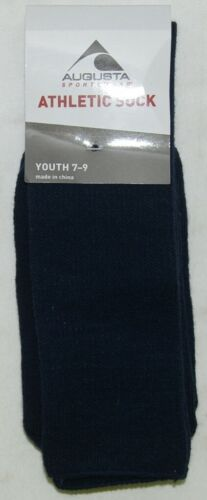 Augusta Sportswear Style 6027 Athletic Sock Youth 7 To 9 Navy Blue