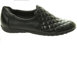 SESTO MEUCCI designer black leather loafers/flats, sz. 7M Bernie Loafer NIB - $137.47