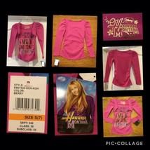 "NEW! Disney ""Hanna Montana"" Girls Shirt Size S(7) Pink Long Sleeves 100% Cotton - $9.89"