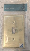 Brainerd Manufacturing Co 64395 Plated Brass Single Switch Wall Plate image 1