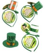 Flashing St. Patrick's Day Light Up Headband Lucky Leps Irish Top Hat As... - $8.65