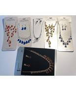 Cute rhinestone Jewelry lot no broken pieces 6 necklaces 6 earrings all ... - $27.00