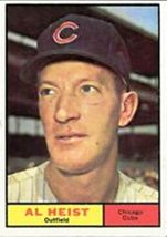 1961 Al Heist #302 Baseball Card (Topps) - $1.48