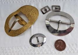 Set Of Buckles Edwardian Sash Buckle 2 Small Buckles 2 Belt Choker Buckles - $28.00