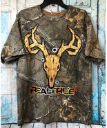 REALTREE Buck Shell Casings Camouflage Short Sleeve TSHIRT Size Medium - $9.14