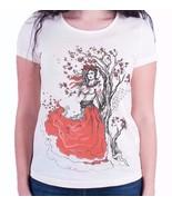 NUkraine Women's T-Shirt, Ukrainian Theme Clothing (White, Size L) - $29.99