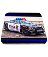 mustang charge police car with thin blue line police mouse pad usa made - $18.99