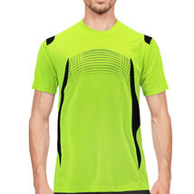 Men's Gym Workout Sport Two Tone Running Performance Quick-Dry T-shirt image 11
