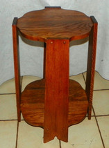 Solid Oak Mission Plant Stand / Side Table - $399.00
