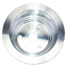 Chevy Small Block Long Water Pump Double Groove Aluminum Crankshaft Pulley image 2
