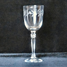Fostoria Set of 4 Crystal Wine Goblets in the Holly pattern - $12.00