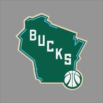 Milwaukee Bucks #5 NBA Team Logo Vinyl Decal Sticker Car Window Wall Cornhole - $6.28+