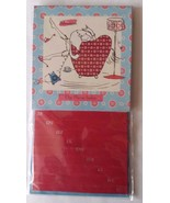 "Miss Adventures Flip Phone Index 8 1/4"" Tall 4 1/2"" Wide Turquoise Red Cat - $12.76"