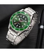 Lvpai® Full Steel Men Watches Luxury Quartz Green Male Sports Wristwatch - $8.69
