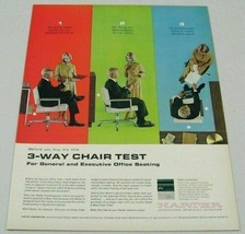 1963 Print Ad Harter Office Seating 3-Way Chair Test Sturgis,MI - $16.36