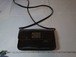 Liz Claiborne brown croc crossbody purse organizer ID theme park travel NWOT LC - $26.72