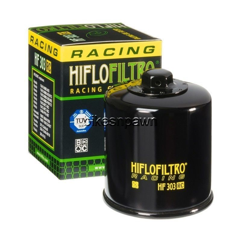New HiFloFiltro HF303RC Black Racing Oil Filter for Honda Kawasaki HiFlo