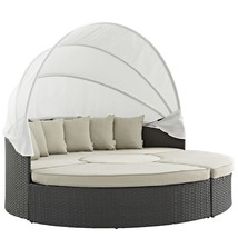 Sojourn Outdoor Patio Sunbrella® Daybed Antique Canvas Beige EEI-1986-CH... - $1,829.25