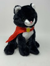 Unipak Superhero Black Cat Plush Soft Stuffed Animal Kitten in Red Cape ... - $13.86