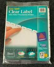 Avery #11429 Easy Apply~Clear Label~Index Maker~Dividers~12 Tabs (5 Sets) - $16.82