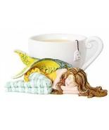 Chamomile Tea Fairy Faery Sleeping by Cup Figurine by Amy Brown - $29.65