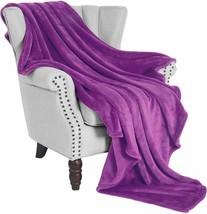 "Nice Soft Fleece Blanket Flannel Purple Velvet 50"" x 60"" Microfiber Plus... - $54.00"