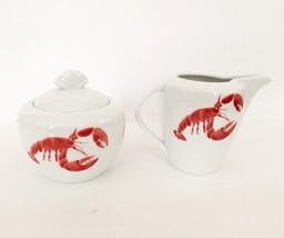 Studio Nova Red Lobster Sugar Bowl and Creamer - $20.26